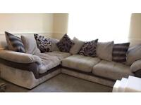 Corded corner sofa