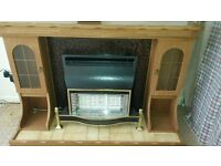 Fire Surround Which Lights Up With Gas Fire-Valor Sunfire OXYSAFE