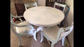 Shabby Chic Dining Table With 4 Chairs