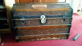 Antique travellers chest