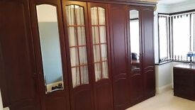 Schreiber bedroom furniture including wardrobe, two bedside cabinets and dressing table