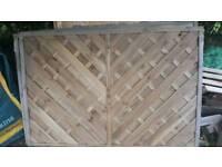 Garden fence panel x 3
