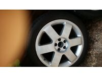 "audi 17"" alloys wheels in very good conditon"