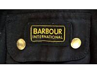 BARBOUR International Woman's Wax Jacket. Black. Like new. Side UK 16