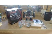 Powerbase Xtreme 1200w Plunge Router. As new Condition