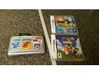 Nintendo ds and three games