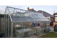 Large Glass Greenhouse Free to Collector & to Dismantle