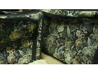 2 black tapestry suitcases 28inch M&s