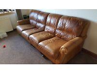 Leather 4 seat sofa