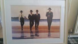 2x Jack Vettriano framed prints (approx 70cm x 84 cm each)