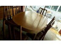 Dining table and six matching chairs - Excellent Condition