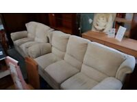 Three seater and two seater fabric sofa set