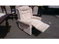 Floral Patterned Recliner Armchair