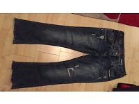 Ladies size 8 river island petite jeans