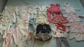 0-3 month girls bundle incl ted baker, John lewis, mamas and papas