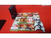 Xbox 360 2 controllers and games