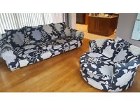 Sofa . 4 seater and 2 seater swivel chair
