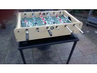 TABLE TOP FOOTBALL GAME. by Jacques. 2 balls GOOD CONDITION