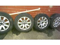 complete 4 wheels and tyres 15 inch ready to go