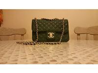 Chanel green forest handbag