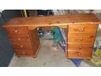 free delivery all pine dressing table chest draws