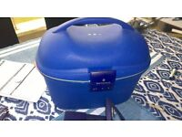 Blue Samsonite vanity case