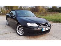 2007 Saab 9-3 Convertible 1.9 TiD Linear Full Service History Long MOT HPI Clear
