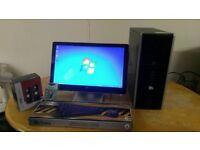 Fast SSD HP 8000 Elite Business PC Desktop Computer & 20 LCD