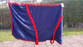"""Blue and red stable rug 5'3"""""""