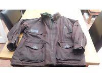 Man's waxed coat