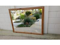 Very large pine framed mirror in very good condition (135 x 104 cm)