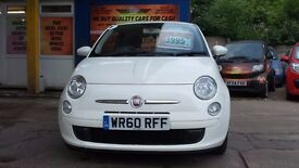 FIAT 500 1.2L PETROL 2010 IN PEARL WHITE LOTS EXTRAS 12 MONTHS MOT/PART HISTORY WITH WARRANTY
