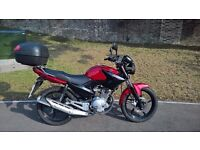 Yamaha YBR 125 in immaculate condition with Top Box very low mileage