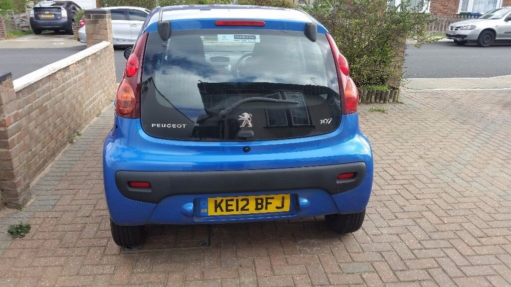 peugeot 107, blue, 2012, excellent condition , very low mileage, a