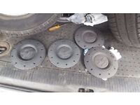 Vw t5 transporter set of wheel caps and bolts