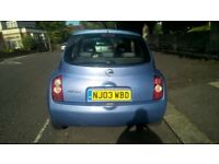 NISSAN MICRA 1.2CC 38.400 MILES MANUAL 2003 WITH 12 MONTHS MOT,BLUE