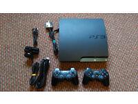 PS3 120GB Slim bundle 2x controllers 23x games