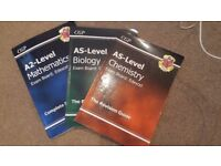 CGP Revision guides: AS Biology, AS Chemistry, A2 Mathematics