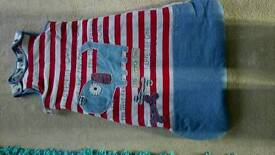 Boys sleeping bag and cot bed and bumper