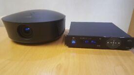 Runco Ls-12d Projector, Vivix Upscaler, and Panamorph Lense kit and assembly.