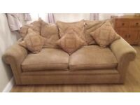 John Lewis 3 seater Sofa. Chair. Pouffe suite.