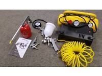 Stanley 5LT air compressor plus accessories