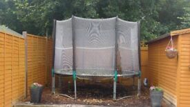 10ft TP trampoline with safety enclosure