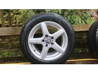 Winter alloy wheels and tyres for Mercedes E class