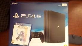 Ps4 Pro With Final Fantasy The Zodiac Age.