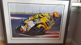 Limited edition Valention Rossi print By Alan Jones