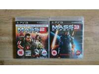Mass effect 2 & 3 for ps3