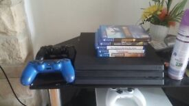 PS4 PRO 1TB 4K GAMING / Amazing Condition / Original Boxes / Horizon zero dawn/guitar hero/siege