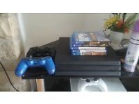 PS4 PRO 1TB 4K GAMING / Amazing Condition / Original Boxes / Horizon zero dawn/guitar hero/siege