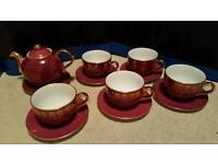 Teapot, cup and saucer set